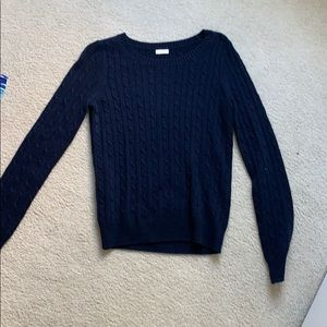 Navy j crew sweater